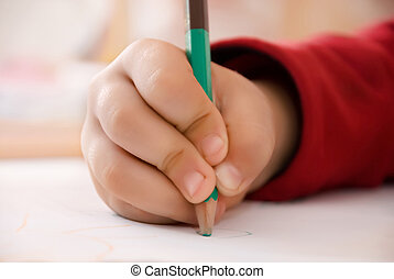 子供, 書く