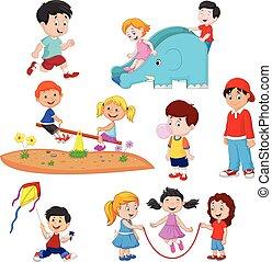 子供, 漫画, 遊び