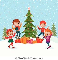 子供, 祝いなさい, クリスマス