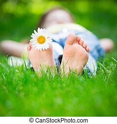 子供, 草 に あること