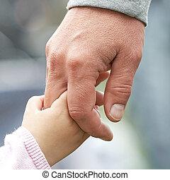 子供, 親, 手を持つ