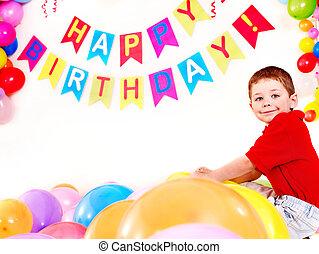 子供, 誕生日パーティー, ∥で∥, boy.