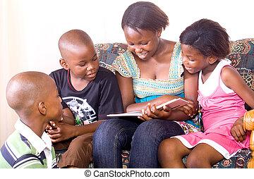 子供, 読書, アフリカ