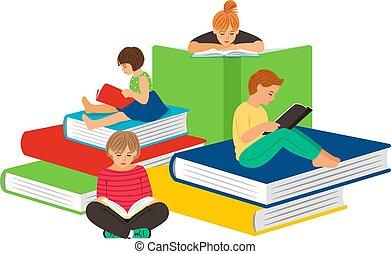 子供, 読書, 本
