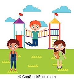 子供, 遊び, 幸せ