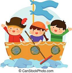 子供, 遊び, 海賊