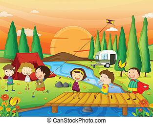 子供, 遊び, 自然