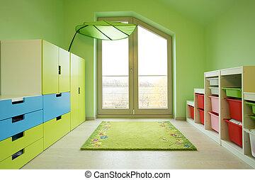 子供 部屋, カラフルである