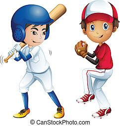 子供, 野球, 遊び