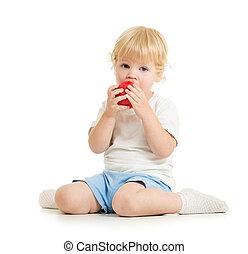 子供, 食べること, 健康に良い食物, 隔離された