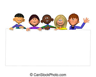 子供, 黒, 印