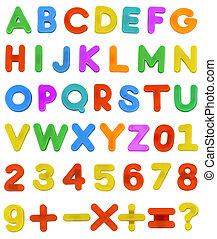 子供, abc, 手紙