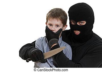 子供, kidnapper, 隔離された, 泥棒