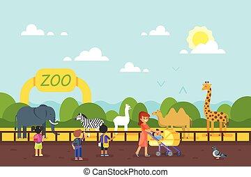 子供, zoo., 訪問