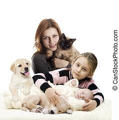 子犬, 家族, 子ネコ