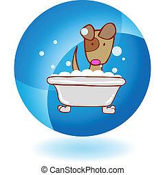 子犬, 浴室