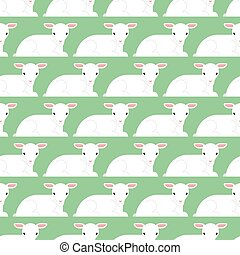 子羊, わずかしか, seamless., パターン, 手ざわり, バックグラウンド。, ベクトル, 動物, 白, yeanling