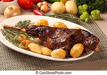 子羊, 焼き肉, 足