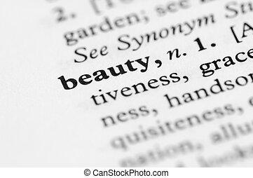 字典, 系列, -, 美麗