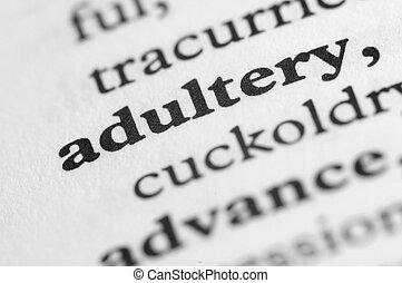 字典, 系列, -, 通奸