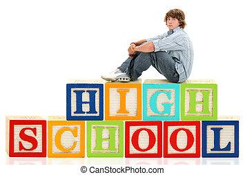 字母塊, 高中