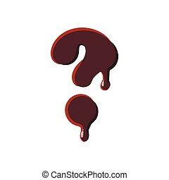 字母表, 巧克力, 做, 问号
