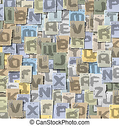 字母表, 背景, 墨水