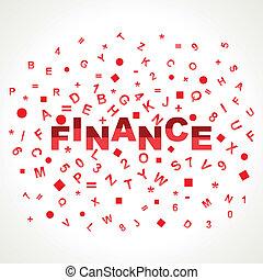 字母表, 詞, 財政