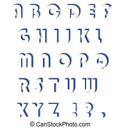 字母表, 集合, letters., halftone