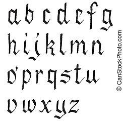字母表, 黑色的墨水