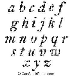 字母表, 黑色, 被隔离