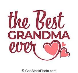 字母, 祝賀, 被隔离, 奶奶, 曾經, 最好, 圖象