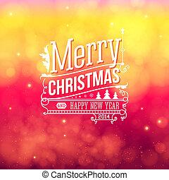 字母, card., 葡萄酒, 問候, 聖誕節, 矢量, 歡樂, style., illustration.
