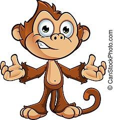 字, 厚顏無恥, 猴子