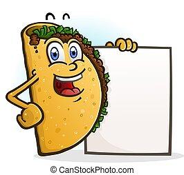 字, 標志理事會, 藏品, 炸玉米餅, 卡通