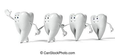 字, 牙齒