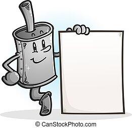 字, 簽署, 藏品, 空白, 圍巾, 卡通