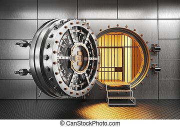存储, 门, 房间, 银行拱顶
