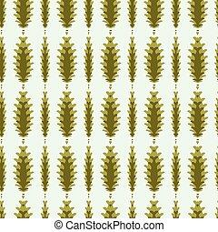 季節的, ベクトル, パターン, ストライプ, イラスト, seamless, 定型, 背景, 松かさ
