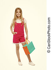 季節的, 夏の 子供, 買い物, かわいい, absolutely, 衣類, concept., 好き, 女の子, セール, sale., 届く, デザイナー, ティーネージャー, 女の子, 子供, bag., benefits., 買われた