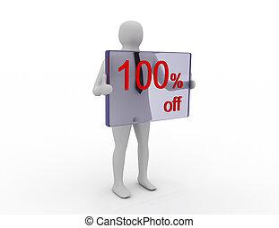 季節的, 買い物, pecent, 販売, 割引, 離れて, 100