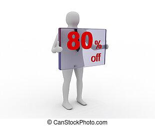 季節的, 買い物, pecent, 販売, 割引, 離れて, 80