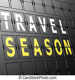 季節, 空港, ディスプレイ, 旅行