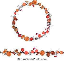 季節, 花冠, 輪, 漿果