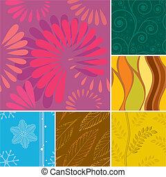 季節, seamless, パターン