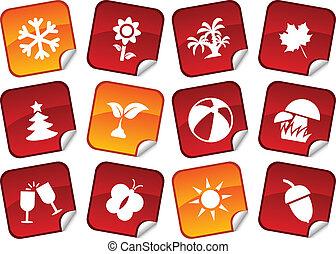 季節, stickers.