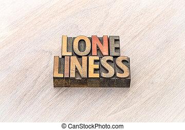 孤独, 単語, 抽象的, 中に, 木, タイプ