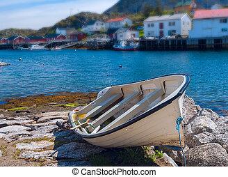 孤独, 浜, ボート