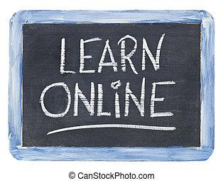 学びなさい, オンラインで, 黒板, 印