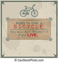 学びなさい, 乗るため, a, 自転車